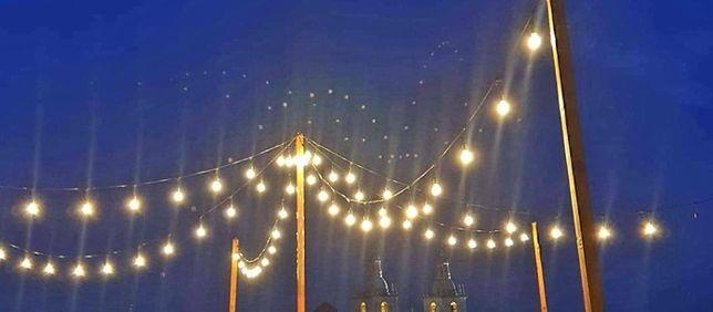 Cordão de luzes, grinalda de luzes para exterior - aluguer