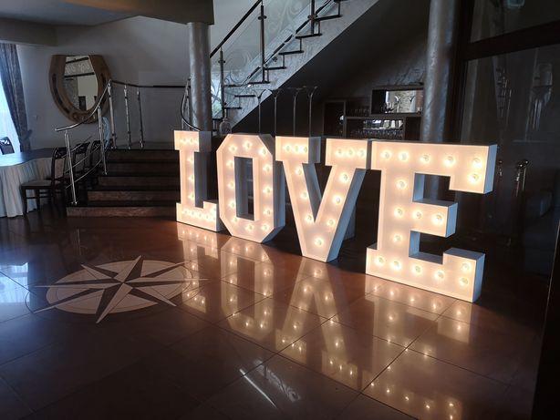 Napis LOVE retro wys 125cm miłość.