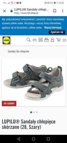 Sandały skórzane dla chłopca Lupilu r. 26 nowe