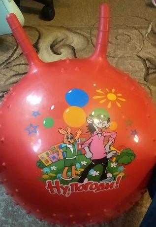 М'яч дитячий стрибунець для фітнеса з ріжками