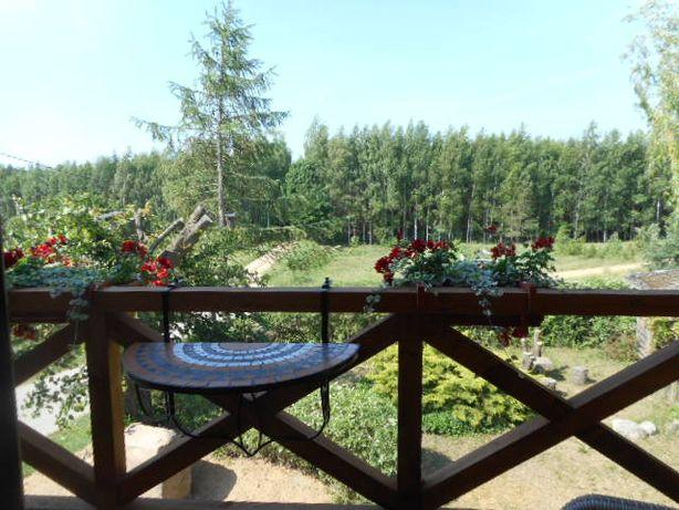 Dom pod lasem wśród lasów jezior