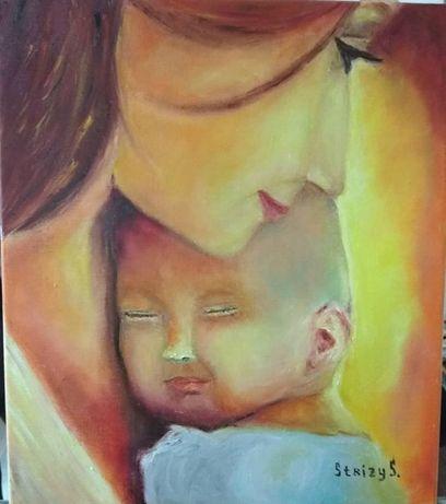 Картина маслом Материнство, 40х50