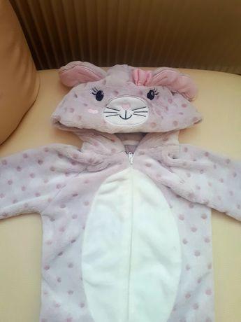 Piżama pod namiot pajac króliczek zając welurowy 92