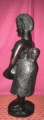 Escultura Africana - Filho e cesto e  outros esculturas