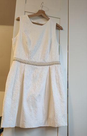 Sukienka biała, ecru MOHITO 42 XL, 40 L, sukienka na poprawiny, ślub