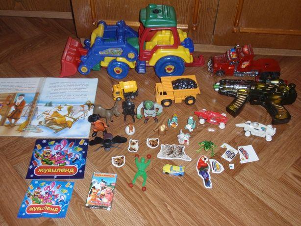 Конструктор трактор экскаватор.Набор игрушек.