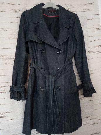 NEW LOOK płaszcz TRENCZ jeansowy r. 40