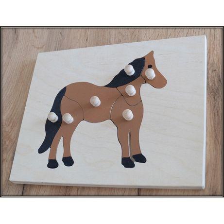 Ukł budowa konia, montessori, puzzle