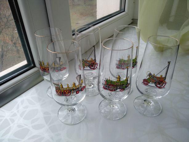 Фужеры из чешского стекла