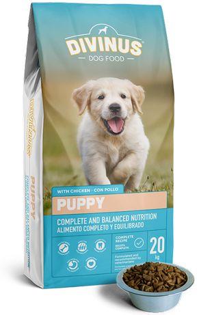 Karma dla psa szczeniaka szczeniąt DIVINUS PUPPY z witaminami 20 kg
