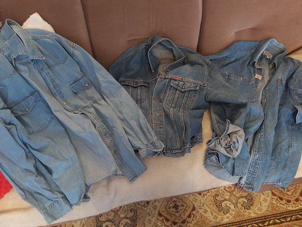 Kurtki, koszula jeansowa