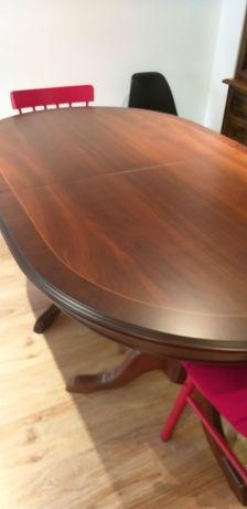 Mesa de madeira cerejeira extensível