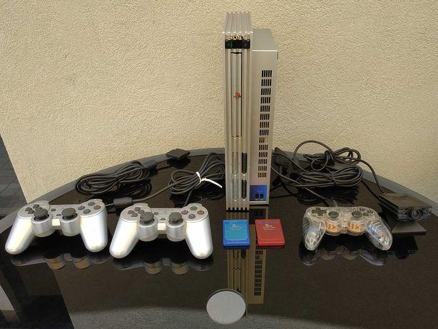 Sony PS2+comandos+acessórios+jogos- Troca aceitável na descrição