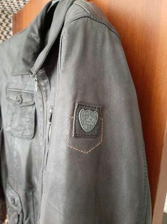 Оригинал! Дорогая Германская кожаная куртка Bogner Boss  мужская XXL
