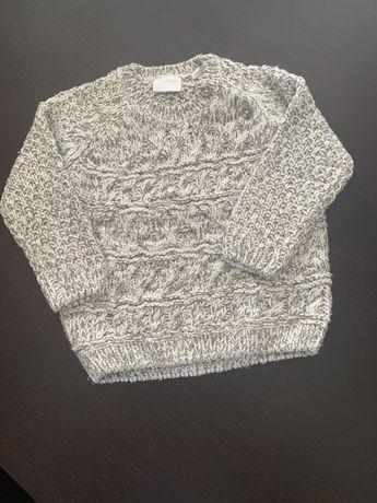 Sweterk cieply welniany Idealny 9-12 F&F 80