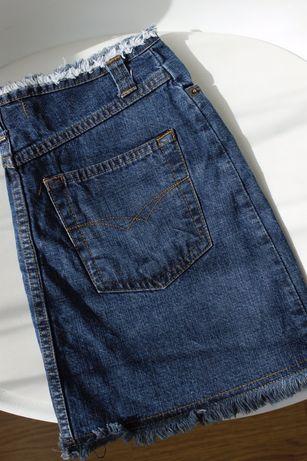 трендовая джинсовая юбка на девочку