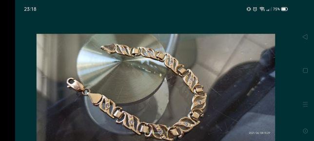 Bransoletka damska złoto 585 za połowę ceny piękna
