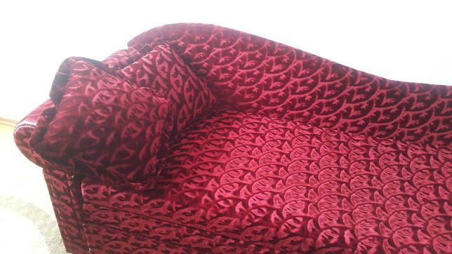 Rozkładane łóżko/tapczan, kolor bordowy
