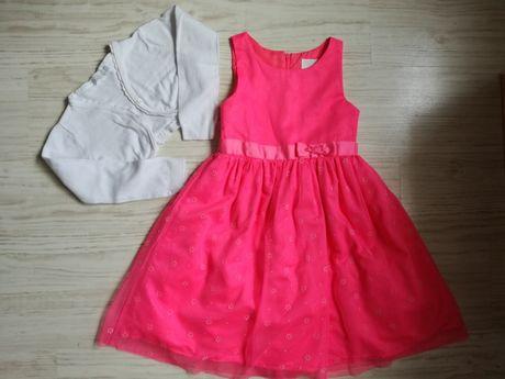Sukienka cool club smyk 128 różowa bolerko