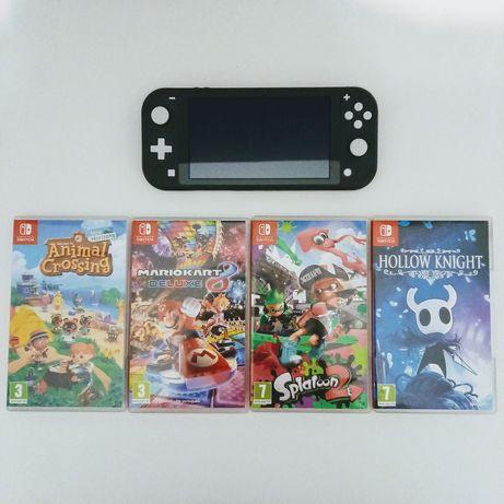 Nintendo Switch Lite (Cinzento) + 4 Jogos