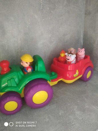 Traktorek ze zwierzętami