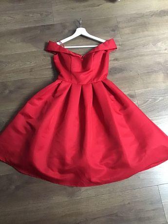 Sukienka Chi Chi London koktajlowa weselna studniówka czerwona xs 34