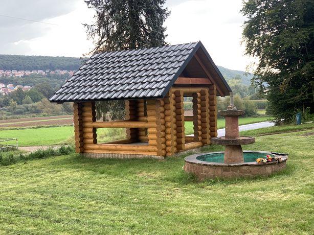 Дерев'яні будинки, (сруб) строительство сруба будівництво зрубу