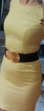 Cytrynowa letnia sukienka