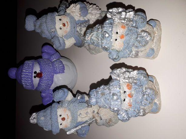 Figurki aniolki zestawy balwanki Mikołaj świeczki polecam