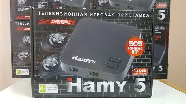 НОВАЯ приставка Денди+Сега 505 игр HAMY5 Dendy+Sega картридж Гарантия