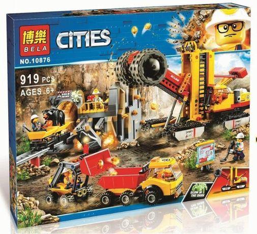 Конструктор BELA «Шахта» 10876 (Аналог LEGO City 60188) 919 дeталей