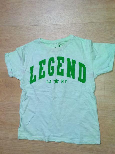Bluzka dla chłopca- zielono turkusowa- legend