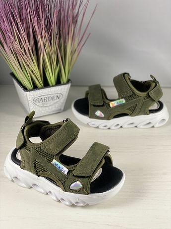 Босоніжки, босоножки, сандали Jong Golf, хакі, LED р-ри 23-32