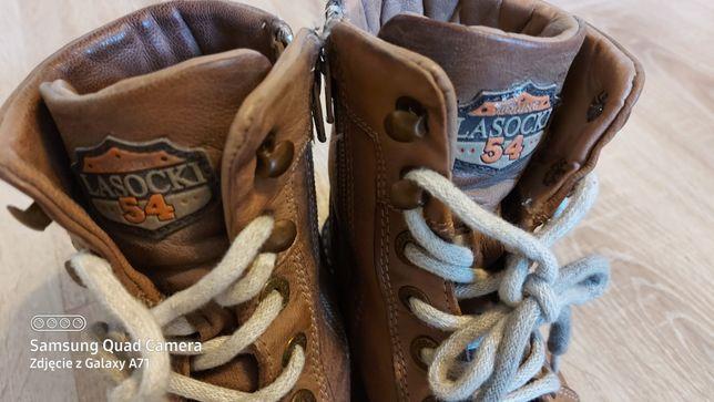 Buty zimowe dziecięce uniwersalne skórzane Lasocki.