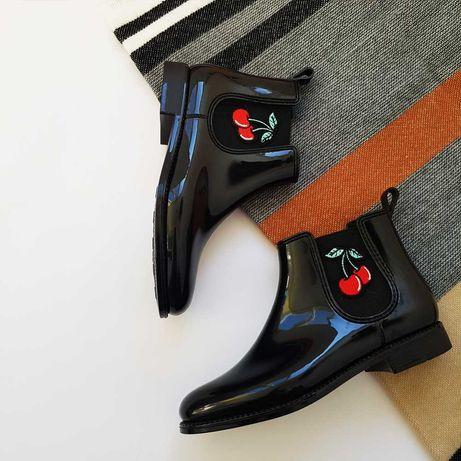 Челси ботинки женские сапоги лаковые резиновые размер 39