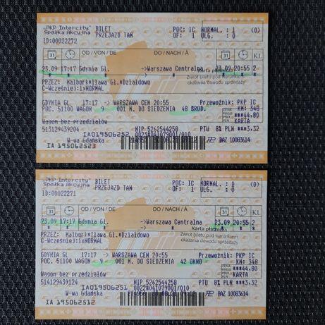 Bilety kolejowe Gdynia-Warszawa