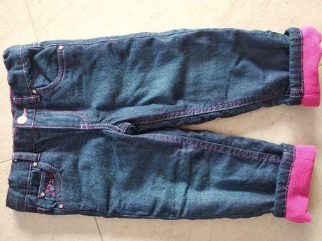 104 NOWE spodnie ocieplane TSCHIBO zimowe, jeansowe na polarze