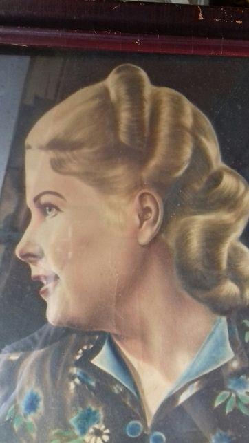 Необычный портрет красивой женщины.довоенная.