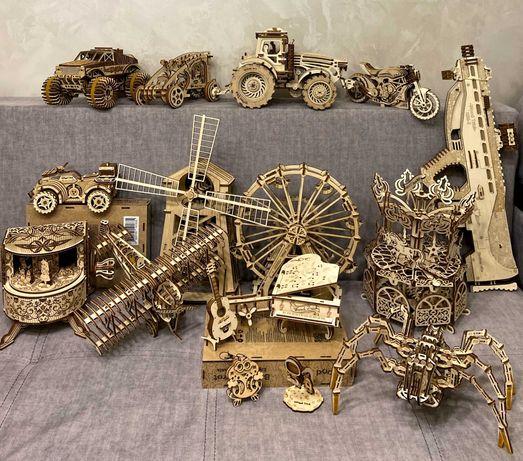 Деревяні конструктори, іграшки, пазли
