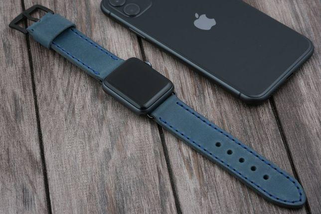 Кожаный Ремешок для Apple Watch ручной работы на 38/40 и 42/44 мм