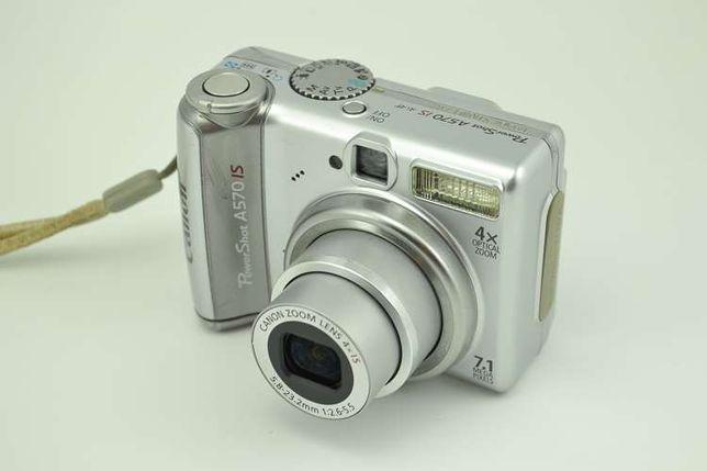 Aparat cyfrowy Canon PowerShot A570 IS + futeral + karta pamięci