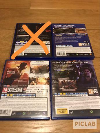 Kolekcja gier na PS4/PS3 Uncharted Tomb Raider 4 pudełkowe gry ps3/ps4