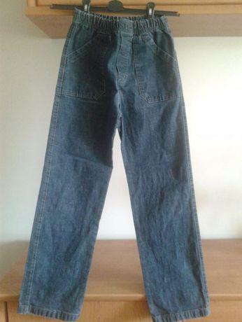 Spodnie jeansowe, w gumkę - 10-12 lat (dokładne wymiary w treści)