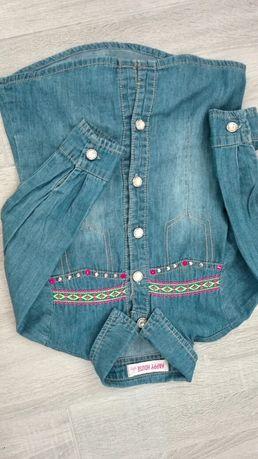 Dżinsowa koszula dla dziewczynki