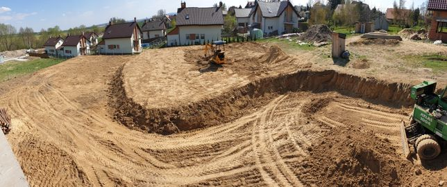 Prace ziemne , wyburzenia , niwelacje terenu , minikoparka , koparka
