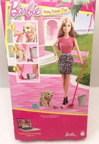 Lalka Barbie i piesek czyścioszek firmy Mattel