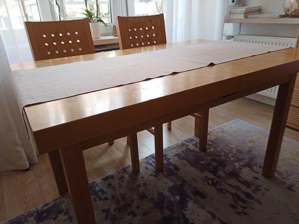 Stół drewniany rozkładany w kolorze buk