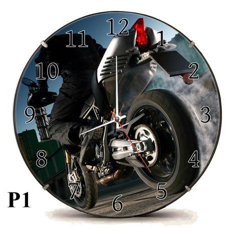 Duży zegar 30cm Motor Motocykl Moto Prezent Gadżet Ścigacz