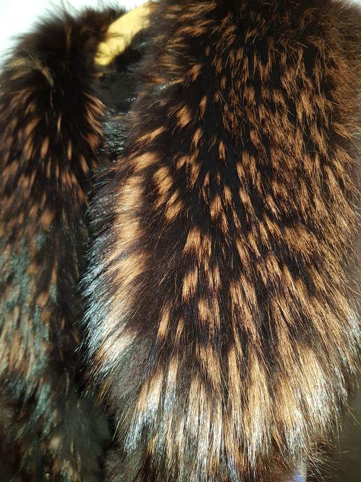 Замшевая дублёнка с шикарным мехом чернобурки, L Буча - изображение 1