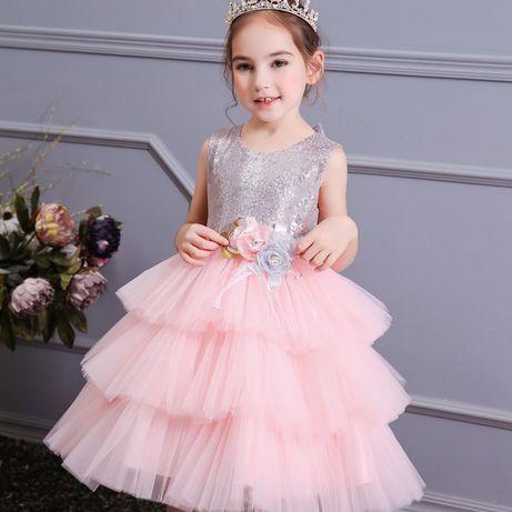 Нарядное платье с пышной юбкой Пайетки